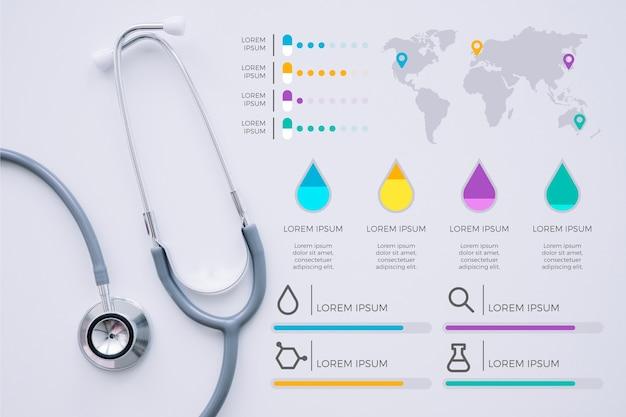 Medische infographic sjabloon met foto