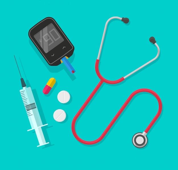 Medische instrumenten of hulpmiddelen geïsoleerde clipart