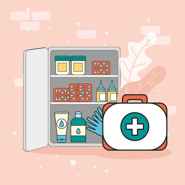 Medische kit en medicijnen