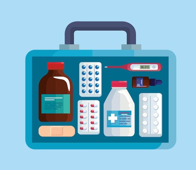 Medische kit met medicijnen