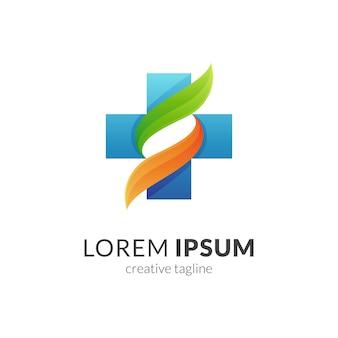 Medische letter s logo concept sjabloon