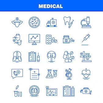 Medische lijn icons set