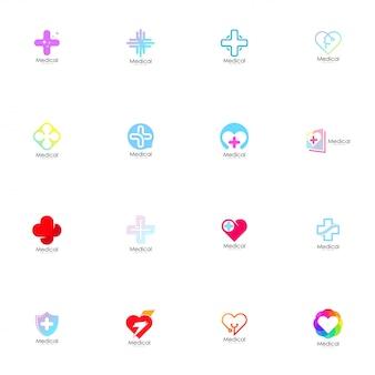 Medische logo set