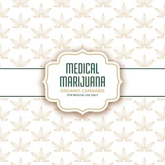 Medische marihuana product verpakking labelsjabloon
