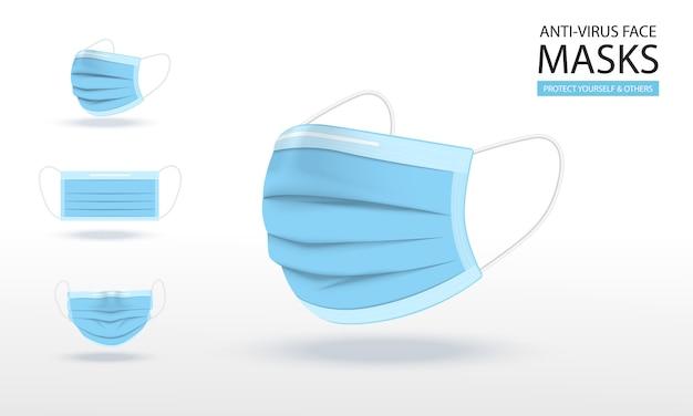 Medische masker illustraties.