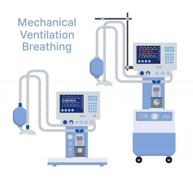 Medische mechanische ventilatiemachine voor apparaatapparaat