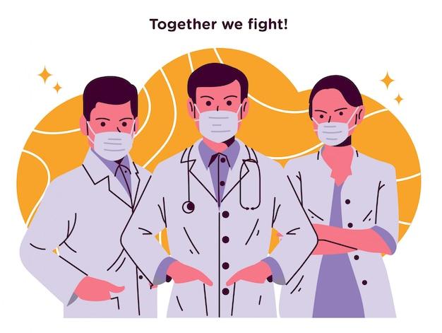 Medische ondersteuning illustratie