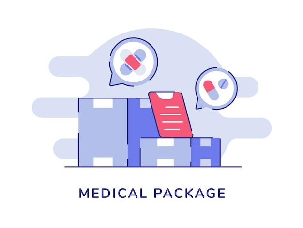 Medische pakketdoos apotheek drug gezondheidsapparatuur