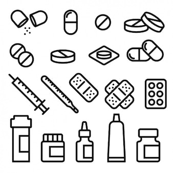 Medische pictogrammen collectie