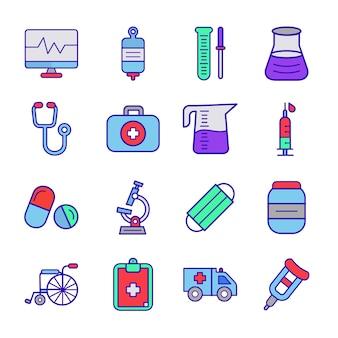 Medische pictogrammen instellen het ziekenhuis