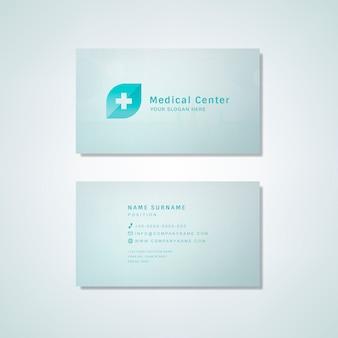 Medische professionele visitekaartje ontwerp mockup