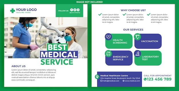 Medische promotiefeed instagram in platte ontwerpstijl