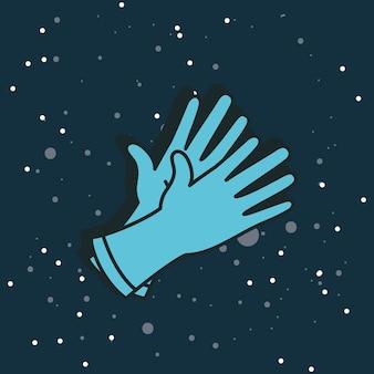 Medische rubberen handschoenen