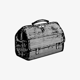 Medische tas in vintage stijl