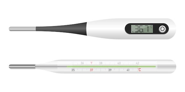Medische thermometer ontwerp illustratie op een witte achtergrond