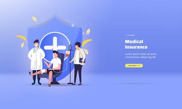 Medische verzekering illustratie concept