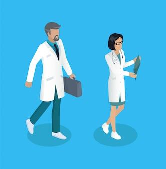 Medische werknemer medics set