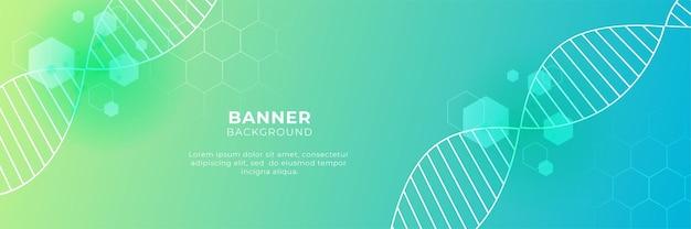 Medische wetenschap en gezondheidszorg blauw groen geel kleurverloop banner ontwerp