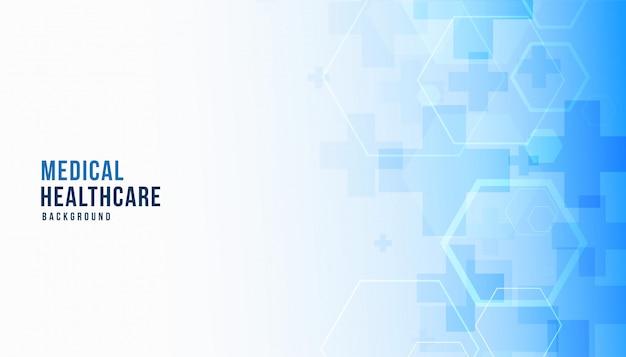 Medische wetenschap en gezondheidszorg blauwe banner