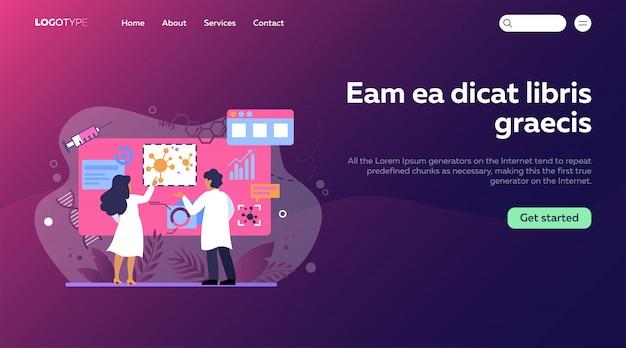 Medische wetenschappers die coronavirus bestuderen