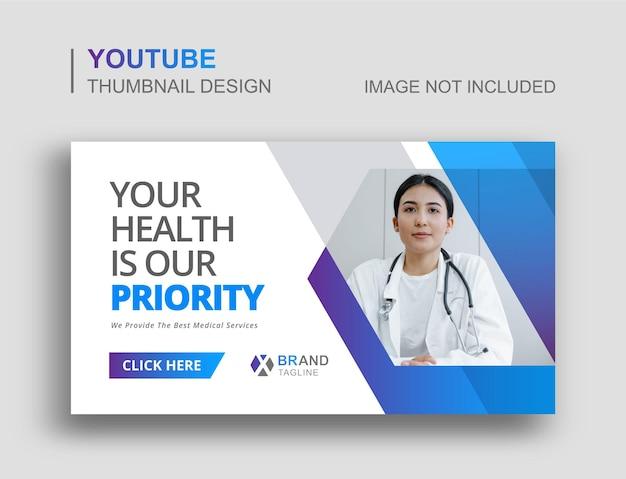 Medische youtube-thumbnail en webbanner