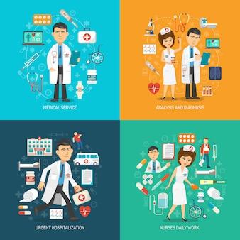 Medische zorg concept