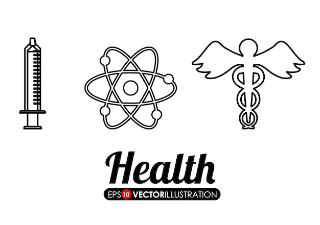Medische zorg gerelateerde pictogrammen