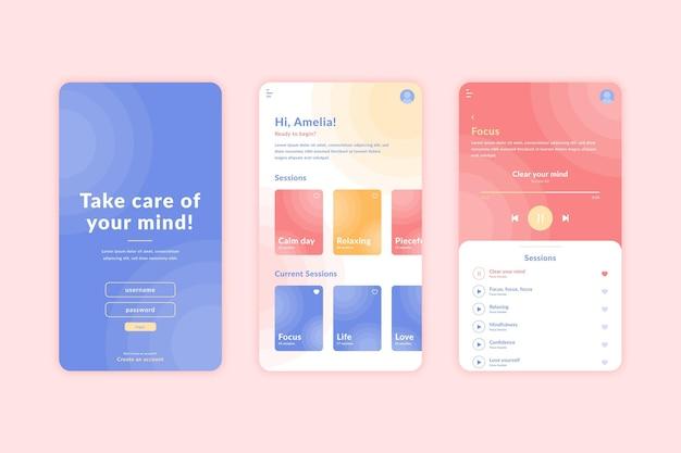 Meditatie app concept
