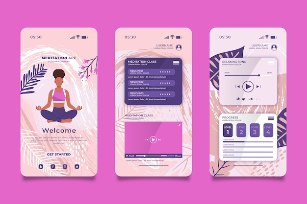 Meditatie-app-interface
