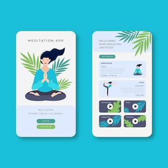 Meditatie app-sjabloon