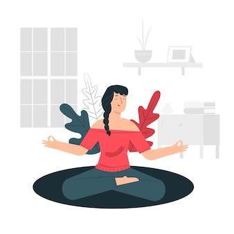 Meditatie concept illustratie