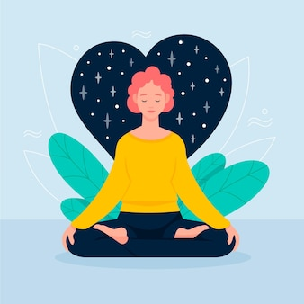 Meditatie concept