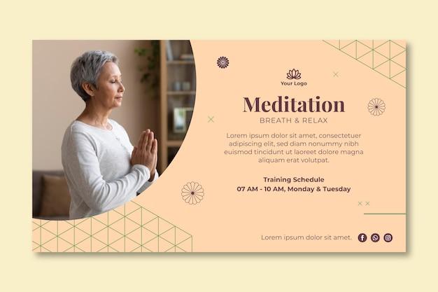 Meditatie en mindfulness baner