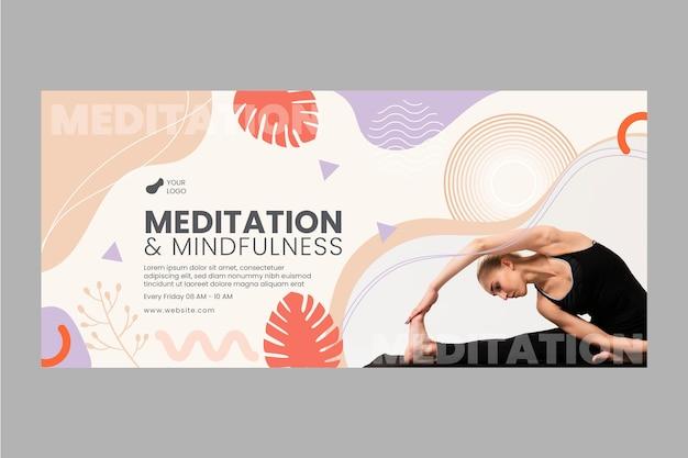 Meditatie en mindfulness-banner