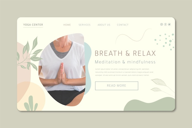 Meditatie en mindfulness-bestemmingspagina