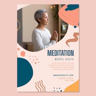 Meditatie en mindfulness flyer verticaal