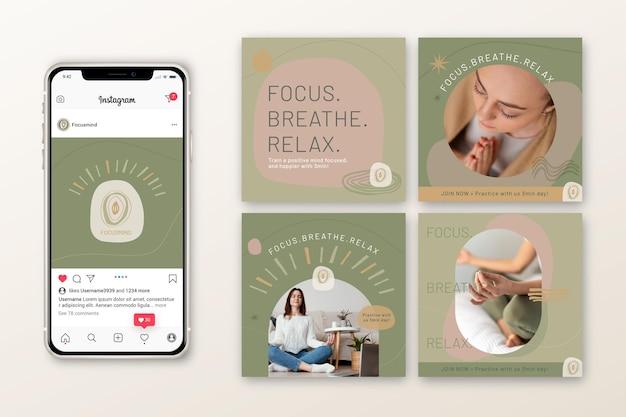 Meditatie en mindfulness instagram-berichten