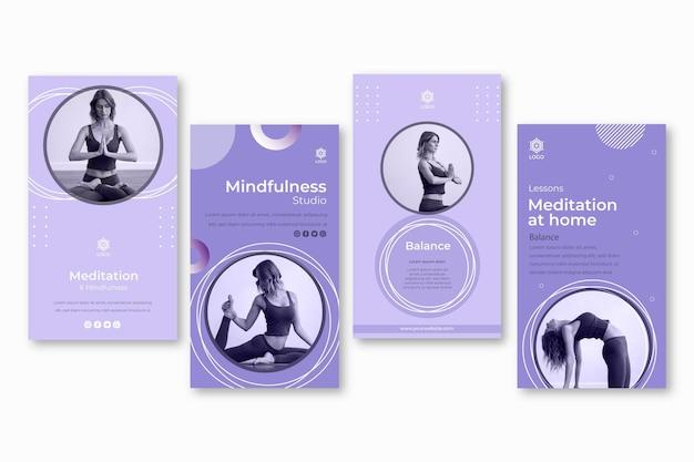 Meditatie en mindfulness instagram-verhalen sjabloon