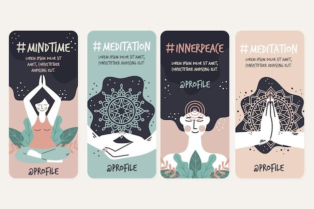 Meditatie en mindfulness instagram-verhalen
