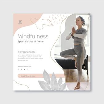 Meditatie en mindfulness kwadraat flyer