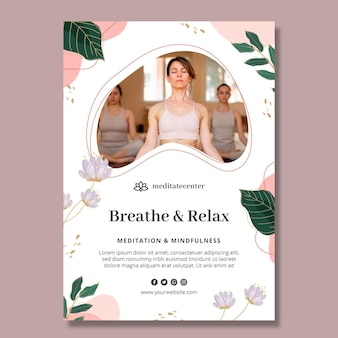 Meditatie en mindfulness-poster