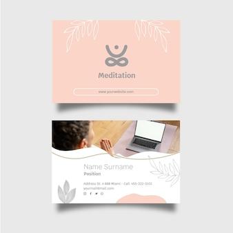 Meditatie en mindfulness-visitekaartje