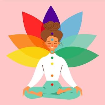 Meditatie illustratie concept