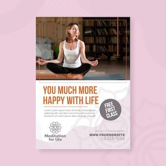 Meditatie & mindfulness flyer verticaal