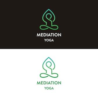 Meditatie yoga logo ontwerp
