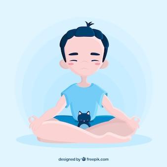 Meditatieconcept met vlak karakter