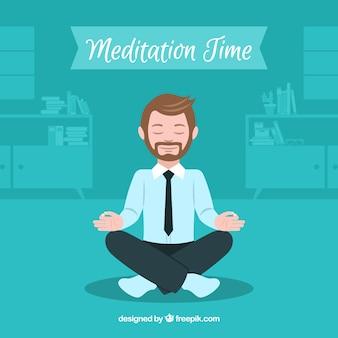 Meditatieconcept met zakenman