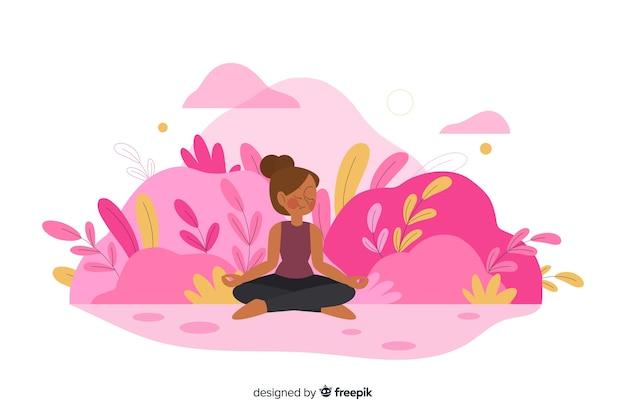 Meditatieconcept voor bestemmingspagina