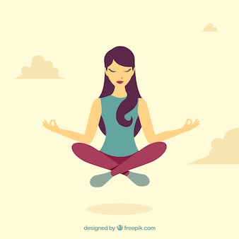 Mediteren concept met platte ontwerp