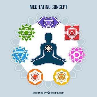Mediterende concept achtergrond